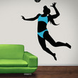 Vinyl Wall Decal Sticker Woman Volleyball Player #OS_AA787