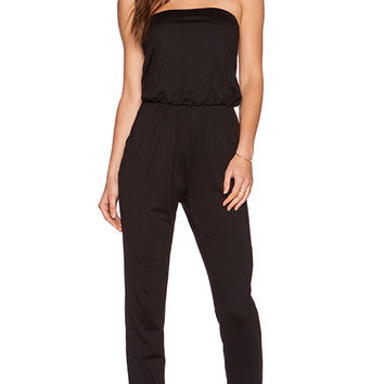 Susana Monaco Strapless Jumpsuit in Black