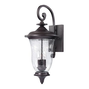 Trinity 3 Light Outdoor Wall Sconce In Oil Rubbed Bronze