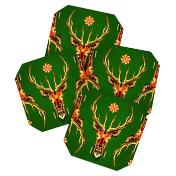 Chobopop Geometric Deer Coaster Set