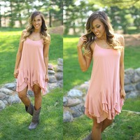 Swing By Dress in Blush