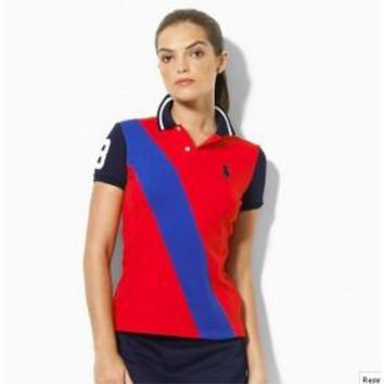 Beauty Ticks Ralph Lauren Polo Women Jbo Symbol Stripe Polo Wrlsp004