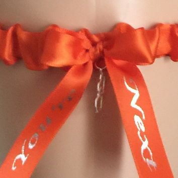 Orange You're Next Wedding Garter, Choose Your Color, Bridal Garter, Prom Garter, Weddings, Custom Weddings, Tossing Garter