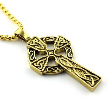 Supernatural Myth Love Knot Symbol Necklace Cross Flower of Life Egyptian Pendant Viking Triple Horn Of Odin Celtic Jewelry