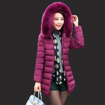 Women's Warm Winter Jackets And Coats New 2017 Fashion With Hooded Parka Hooded Cotton Hooded Jacket Women's Winter Jacket coat