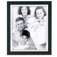 """Lawrence Frames 8"""" x 10"""" Wood Picture Frame in Black with Silver Inner Bezel - 705080 - Decor"""