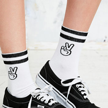 Peace Sign Sports Socks - Urban Outfitters
