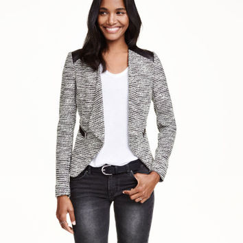 Textured-knit Jacket - from H&M