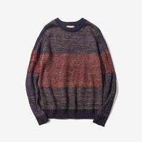 Men's Sweater Fashion Winter Wool Sweaters Men Patchwork Design Sweaters Tops Clothing Men Pullover Sweater Men No.1708121