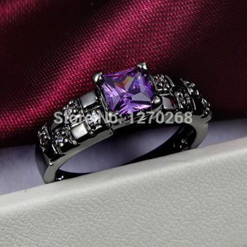 Size 6  new design plated swiss CZ Diamond Ring Pretty perfect engagement gift of jewelry  Hot