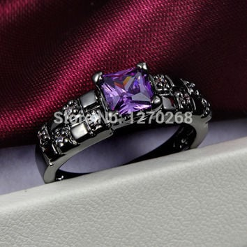 Size 8  new design plated swiss CZ Diamond Ring Pretty perfect engagement gift of jewelry  Hot