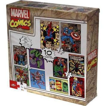 Marvel Comics 10-in-1 Puzzle Pack