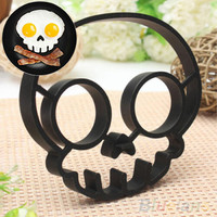 Cute Silicone Skull Owl Egg Fried Shaped Mould Shaper Ring Kitchen Cooking Tool