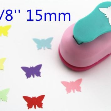 free shipping 15mm punch butterfly paper punches for scrapbooking Diy tools shape craft punch diy puncher paper cutterS298723