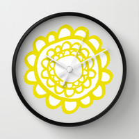 Sunflower Wall Clock by Cecilia Andersson