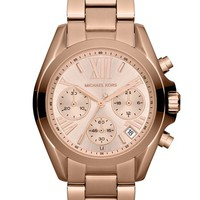 Women's Michael Kors 'Bradshaw - Mini' Chronograph Bracelet Watch, 36mm - Rose Gold