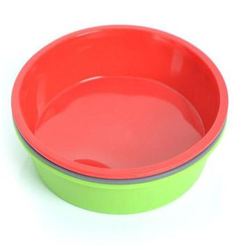 DCCKL72 1 piece Round Silicone Pizza Pan Baking  Microwave Cake Oven Baking Dish Bread Plate Kitchen Tools