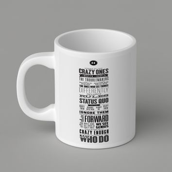 Gift Mugs | Here's To The Crazy Ones Ceramic Coffee Mugs
