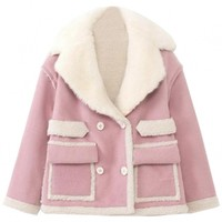 Sweet Pink Notch Lapel Jacket - OASAP.com