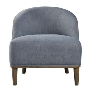 Nerine Silver Blue Accent Chair