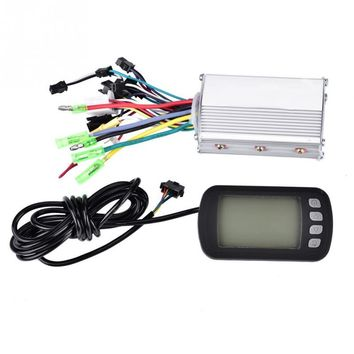 Motor Controller 36V/48V 350W Brushless E-bike Controller with LCD Panel for E-bike Electric Bike Bicycle Scooter
