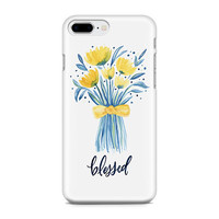 Blessed Phone Case - Floral Phone Case - Flowers Phone Case - Watercolor Tulips - iPhone 8 - Galaxy S9