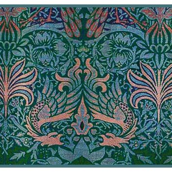 William Morris Dragon Detail Counted Cross Stitch or Counted Needlepoint Pattern