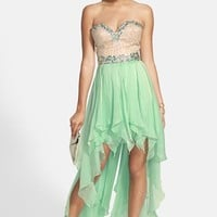 Sherri Hill Strapless High/Low Gown