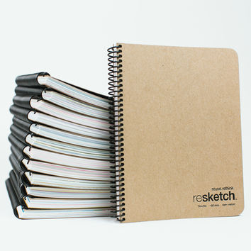 Resketch: The Reclaimed Paper Sketchbook