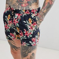 ASOS Swim Shorts 2 Pack In Floral And Pink In Short Length at asos.com