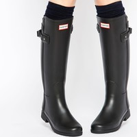 Hunter Original Refined Back Strap Black Wellington Boots