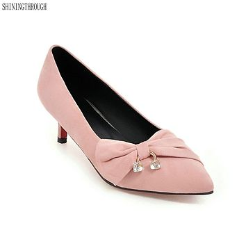 Low Heels Woman Party Wedding Pointed Toe Shoes