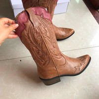 Women Western Cowboy Red & Cyan Boots Shoes horse 50%OFF today only