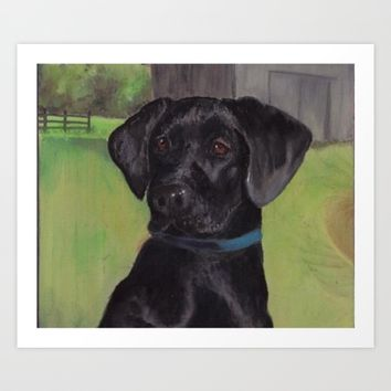 Black Lab Art Print by DJ Beaulieu