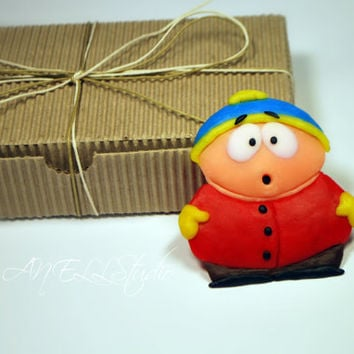 Eric Cartman - South Park - Polymer Clay - Fridge Magnet - Gift - polymer clay character
