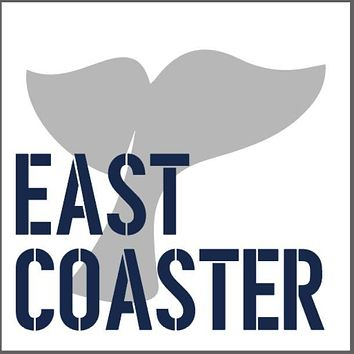 East Coaster Wooden Coaster Set | Whale