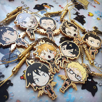 Haikyuu!! gold acrylic charms