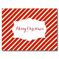 Postcard - Merry Christmas - Personalizable Postal