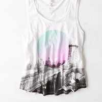 AEO Women's Nyc Drapey Muscle Tank (White)