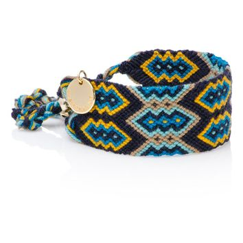 Good vibes - Wayuu Friendship Bracelet blue
