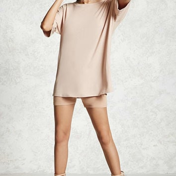 Oversized Ribbed Knit Tunic