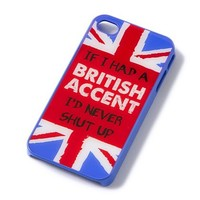 British Accent iPhone Cover for 4 & 4S  | Claire's