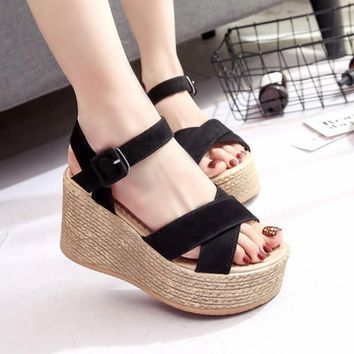 Summer Creepers Casual Shoes Woman Sexy Fashion