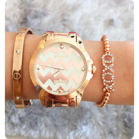 Oh... Rose Gold Chevron!