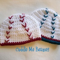 BaseBall Beanie ... by CuddleMeBeanies | Crocheting Pattern