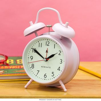 Covent Garden Twin Bell Alarm Clock Pink