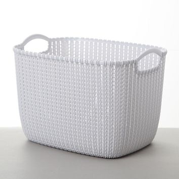 White Plastic rattan look laundry Basket in New