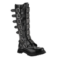 Plated Knee High Gothic Boots