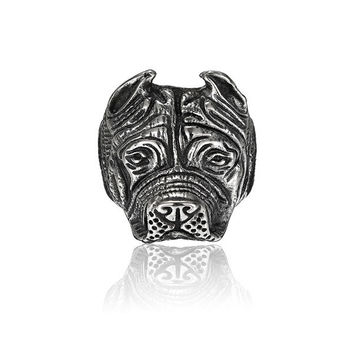 316L Stainless Steel Titanium Dog Head Shaped Ring