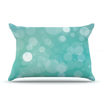 "KESS Original ""Let It Go"" Aqua Bokeh Pillow Sham"